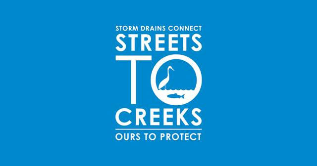 Logo of Streets to Creeks on blue background