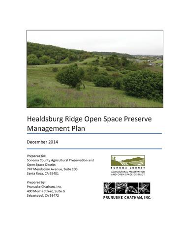 Ridge Management Plan Cover
