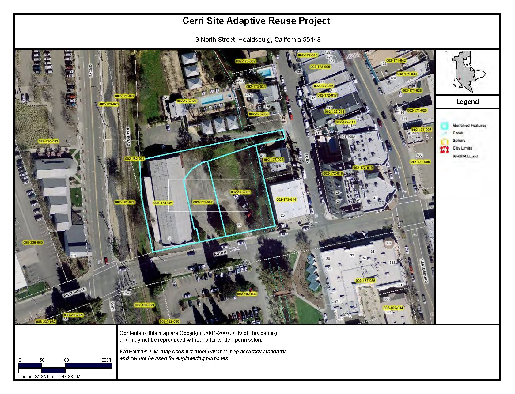 Cerri Site Adaptive Reuse Project Site Map - Healdsburg