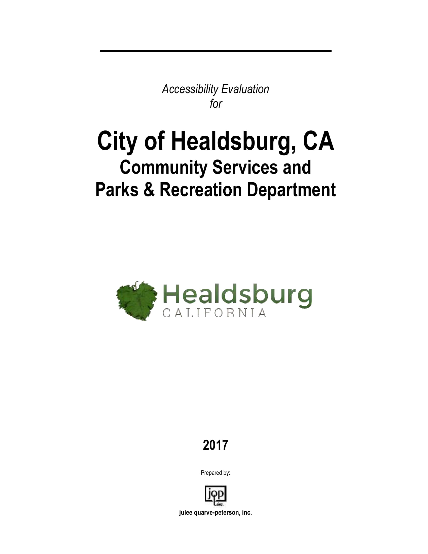 Accessibility Evaluation Cover